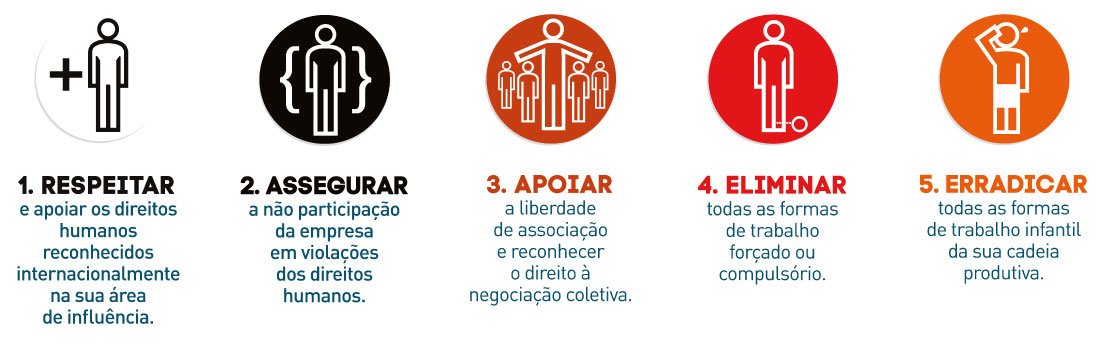 Os dez princípios do Pacto Global - 1 a 5